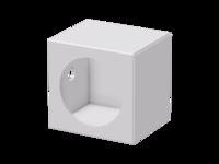 "Single 4"" Light Housing , weld-on - fits L&R"
