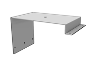 Int'l Day Cab Beacon Bracket, SS - L&R