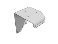 KW Flat Glass Cab Beacon Bracket, SS - L