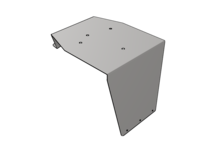 PB 579 & 567 High Roof Beacon Bracket, SS - L