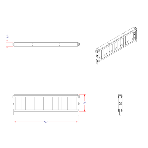 Load Leveller 26Hx97W w/ fixed stakes