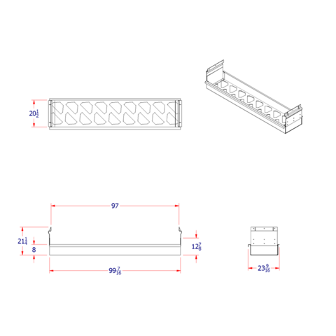 Dunnage Tray Kit 8FT w/ mount kit